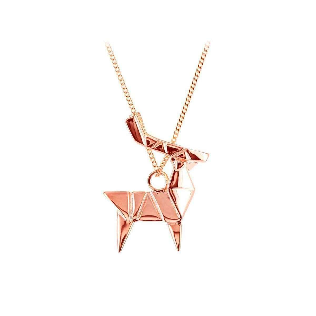 Deer Pink Gold Necklace