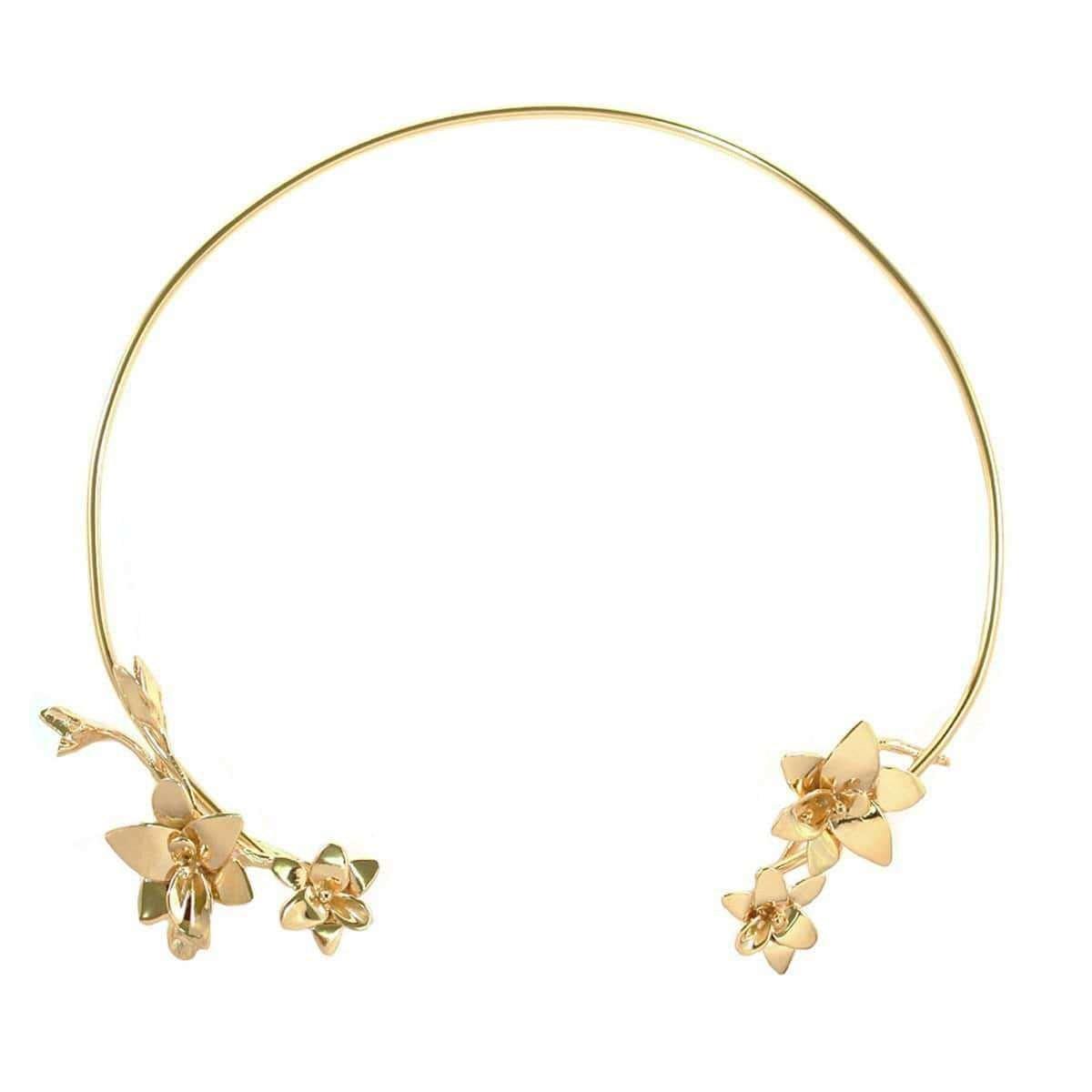 Golden Orchid Choker
