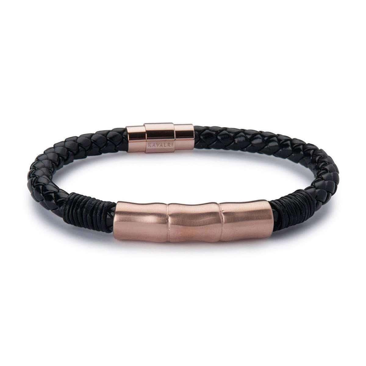 Leather Jawbone Bracelets - Rose Gold