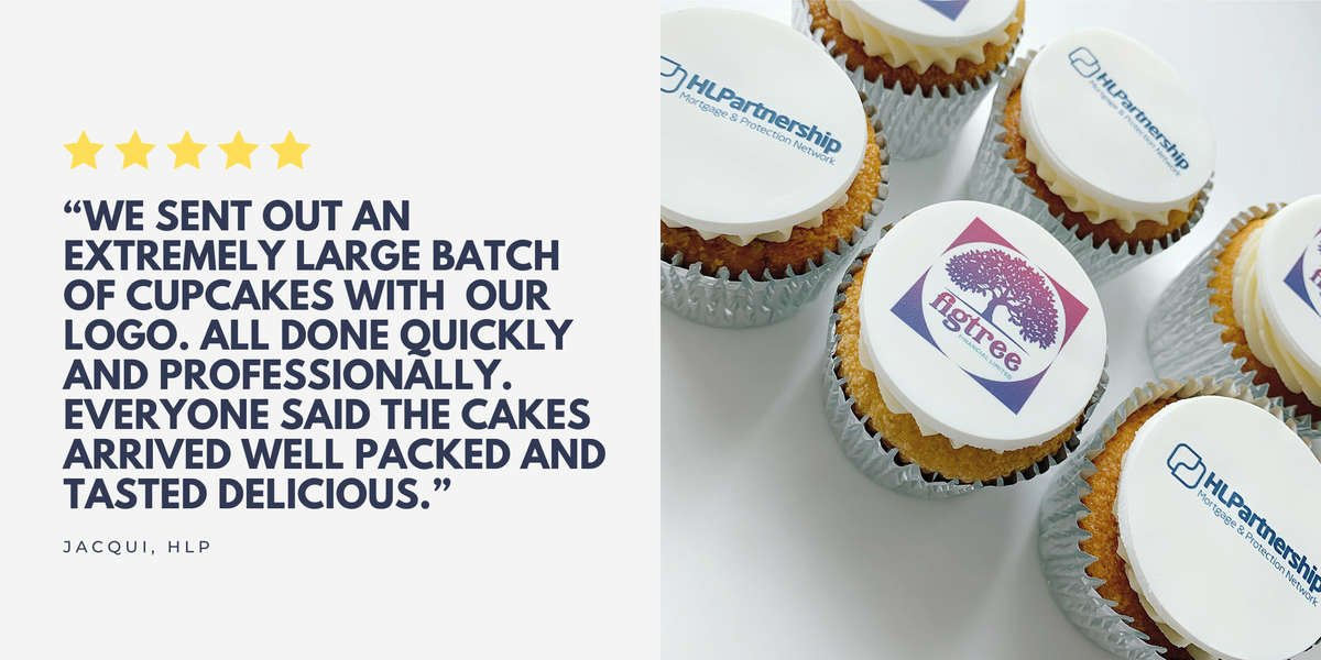 logo cupcakes delivered across the uk