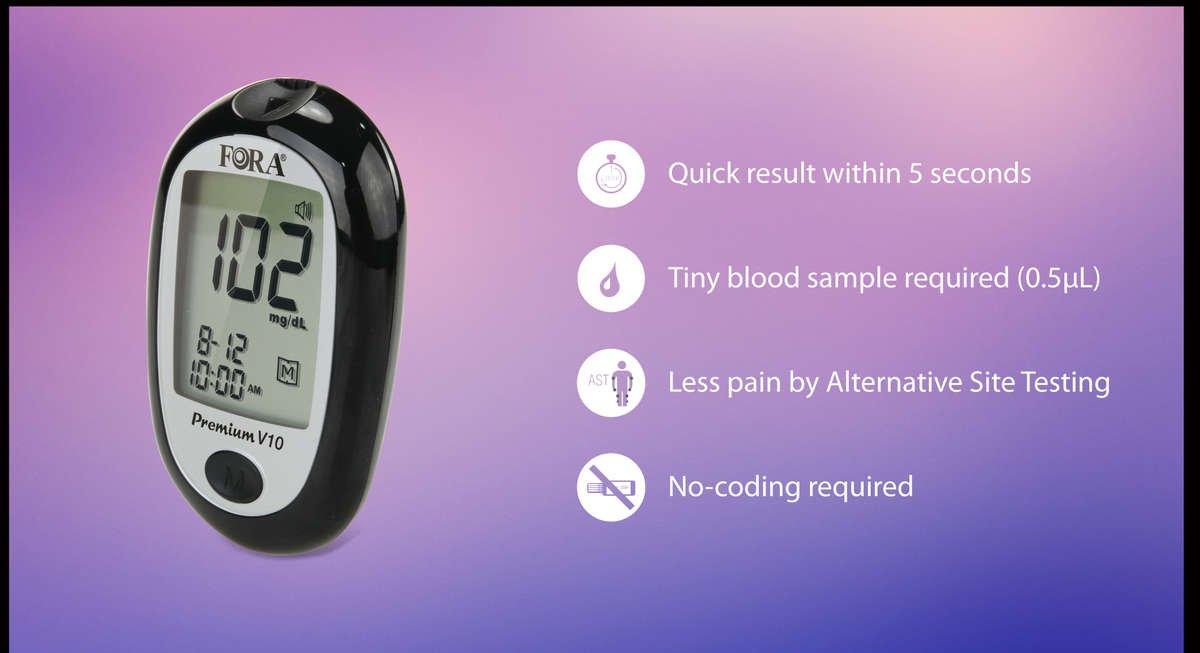 Fora Premium V10 Talking Blood Glucose Meter English