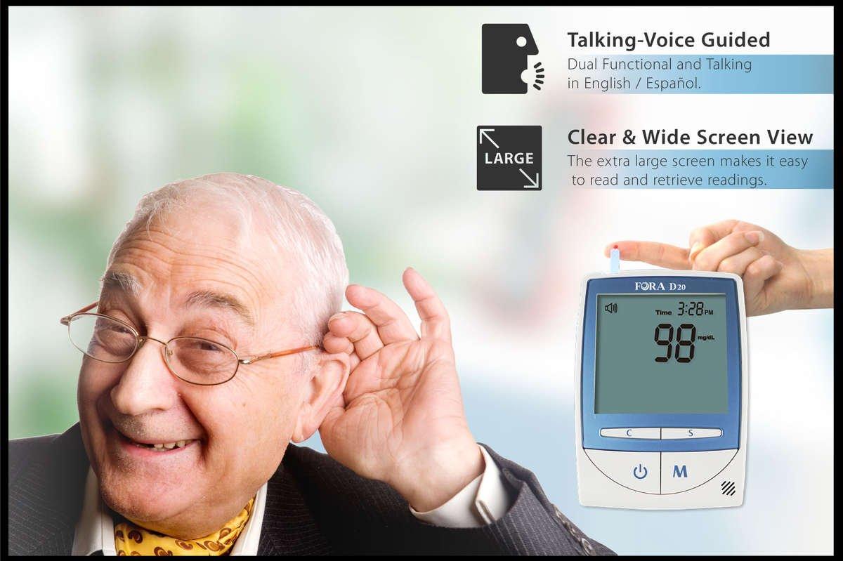 FORA D20 2-in-1 Blood Glucose & Pressure  monitor