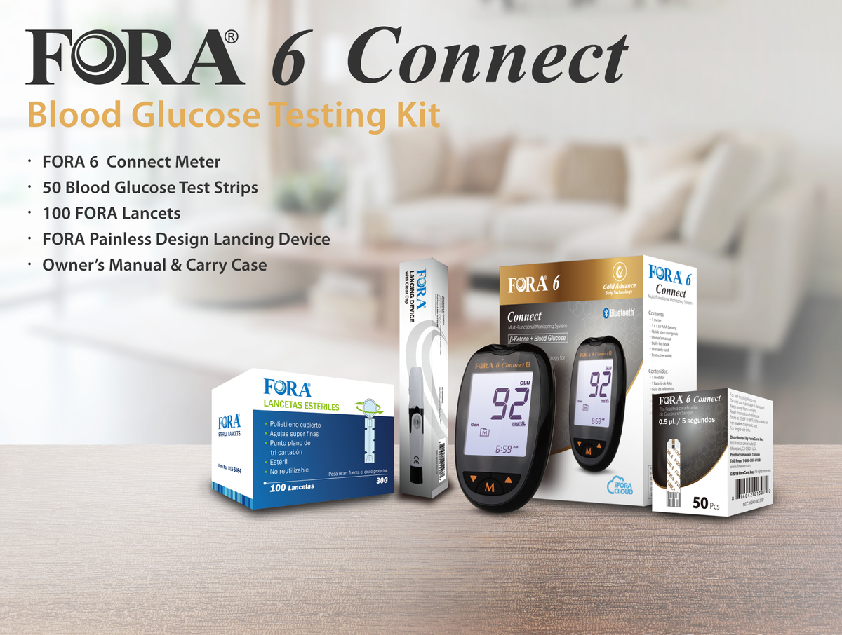 Fora 6connect Blood Glucose And Ketone Monitoring System
