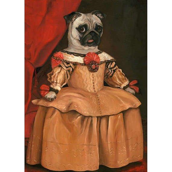 pug in a dress