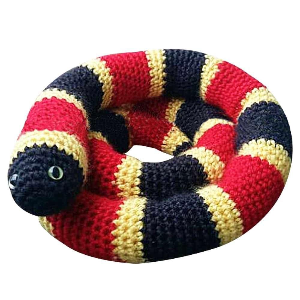 coral snake plush toy