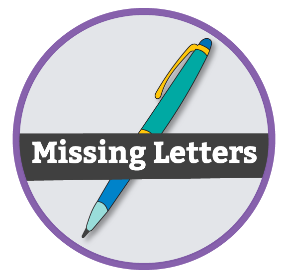 ESL Missing Letter Activities