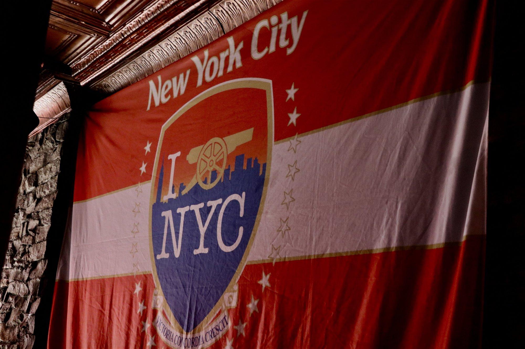 Arsenal NYC flag at The Blind Pig