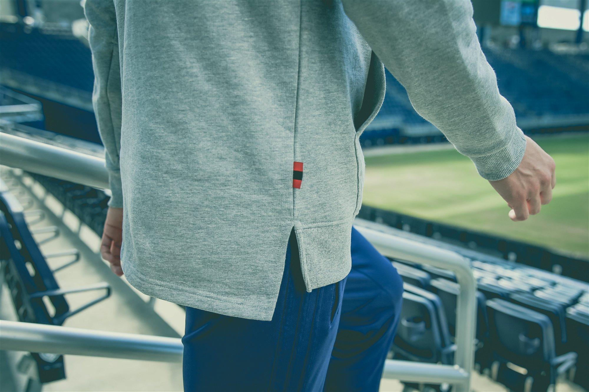 Drop hem on the box logo hoodie for SKCxLBF