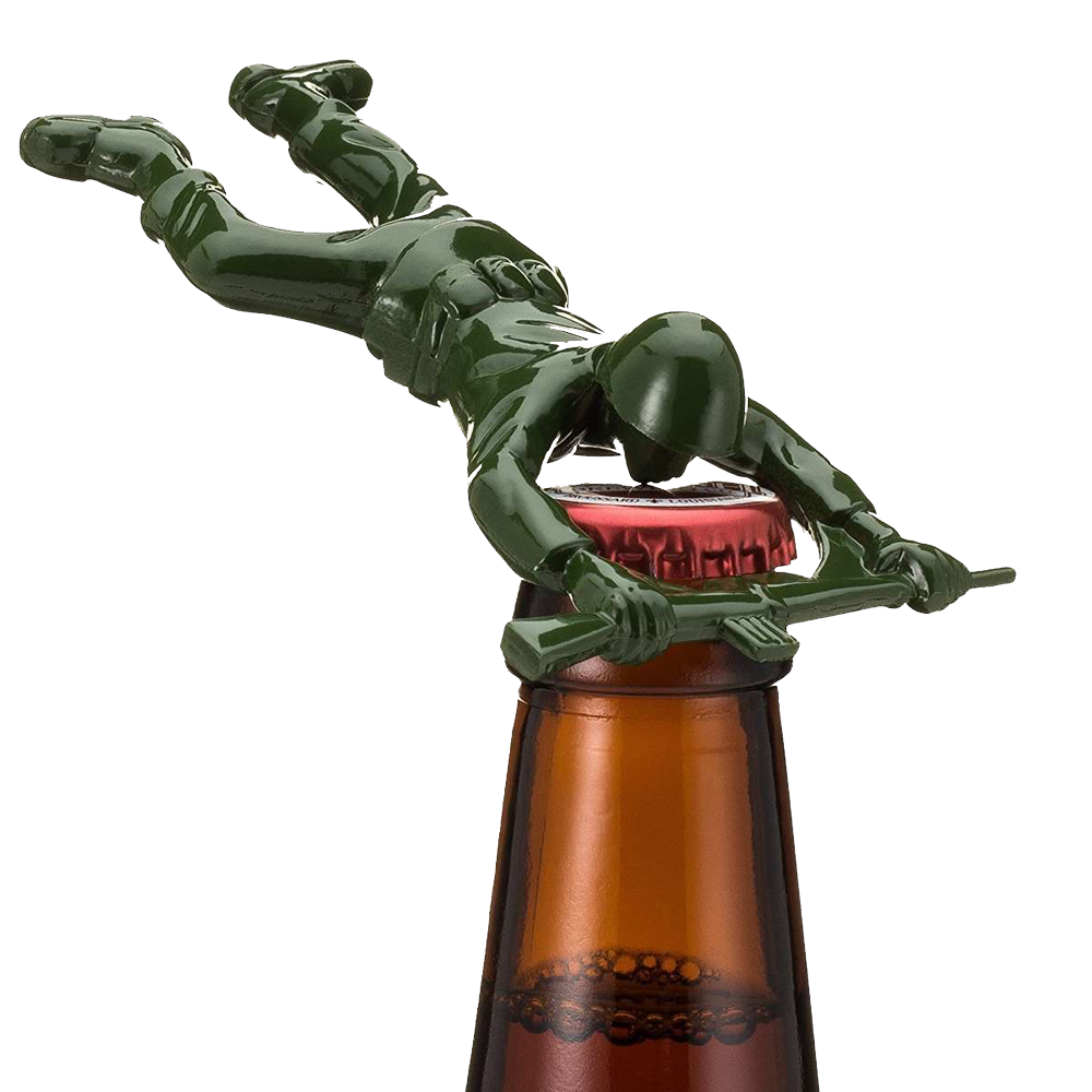 Down the pike Sgt Pryer green army man bottle opener