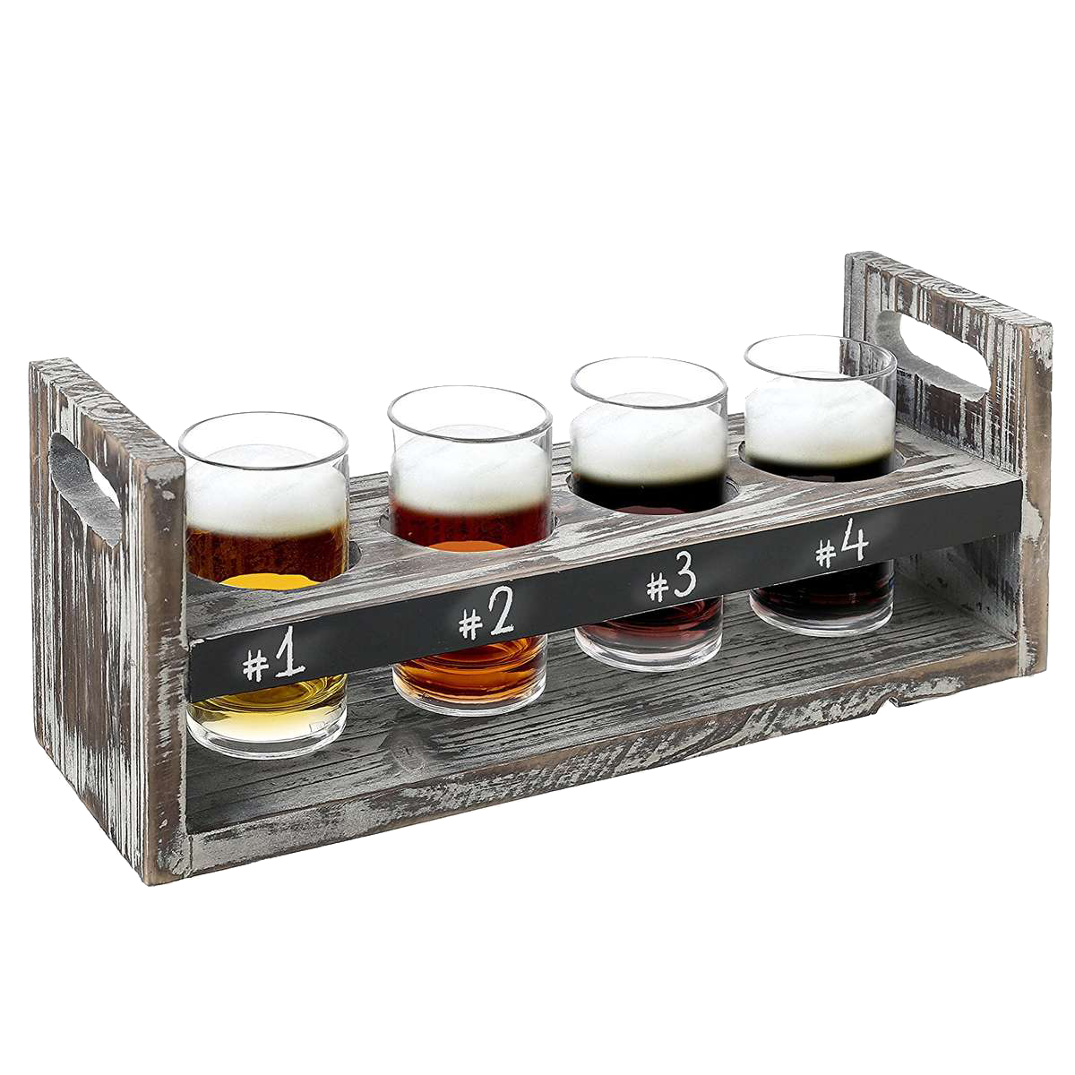 A craft beer tasting glass set