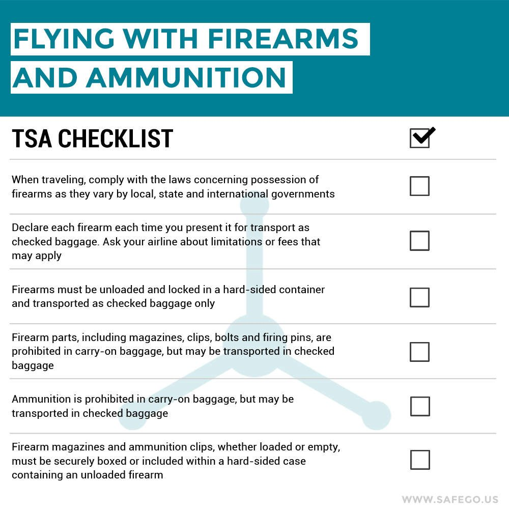 best practices for flying with firearms u0026 ammunition u2013 safego