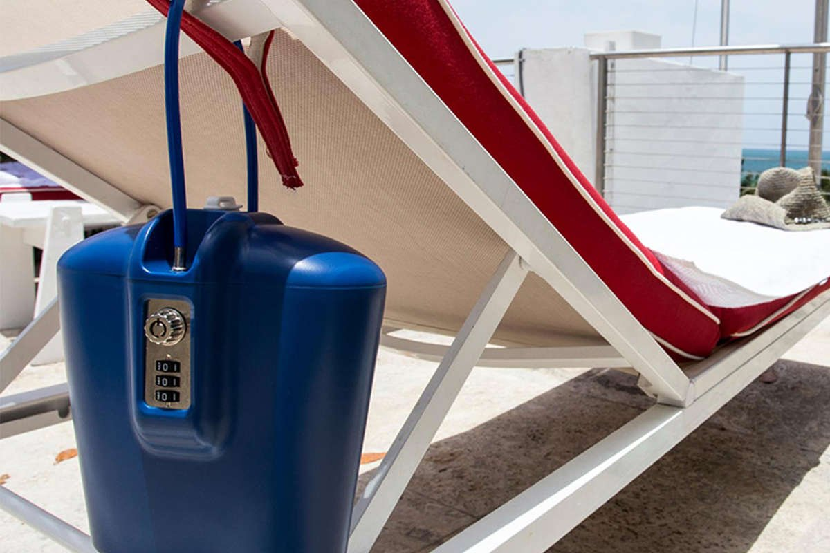 safe box for beaches and pool chairs