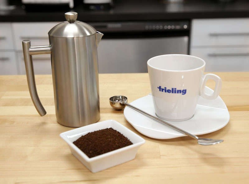 Frieling USA Double Wall Stainless Steel French Press Coffee Maker with Dual Screen