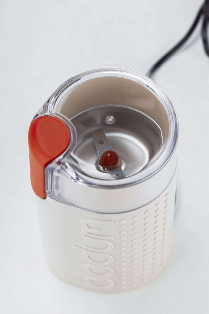 Bodum BISTRO Coffee Grinder, Electric Blade Coffee Grinder, White