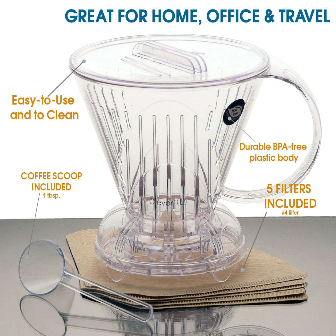 Clever Dripper, Large (18 oz.) - Full Immersion Coffee Dripper