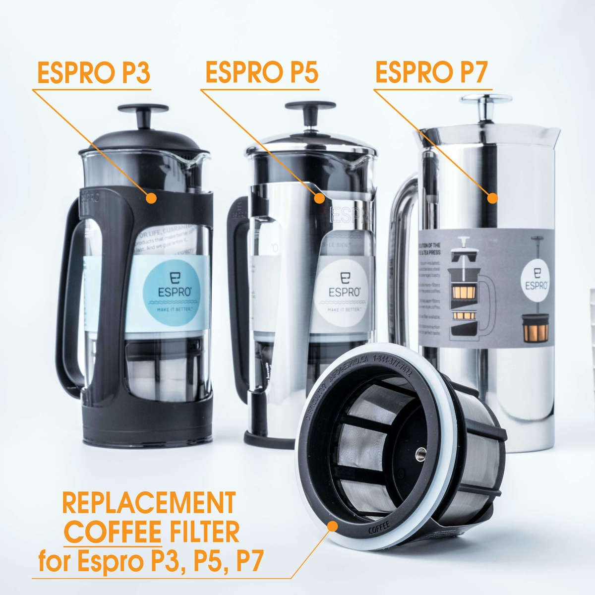 The Espro P5 Gl Press Offers A Never Before Designed Unique Coffee Plunger Feature Superior Filtering System With Not One But Two Micro Filters