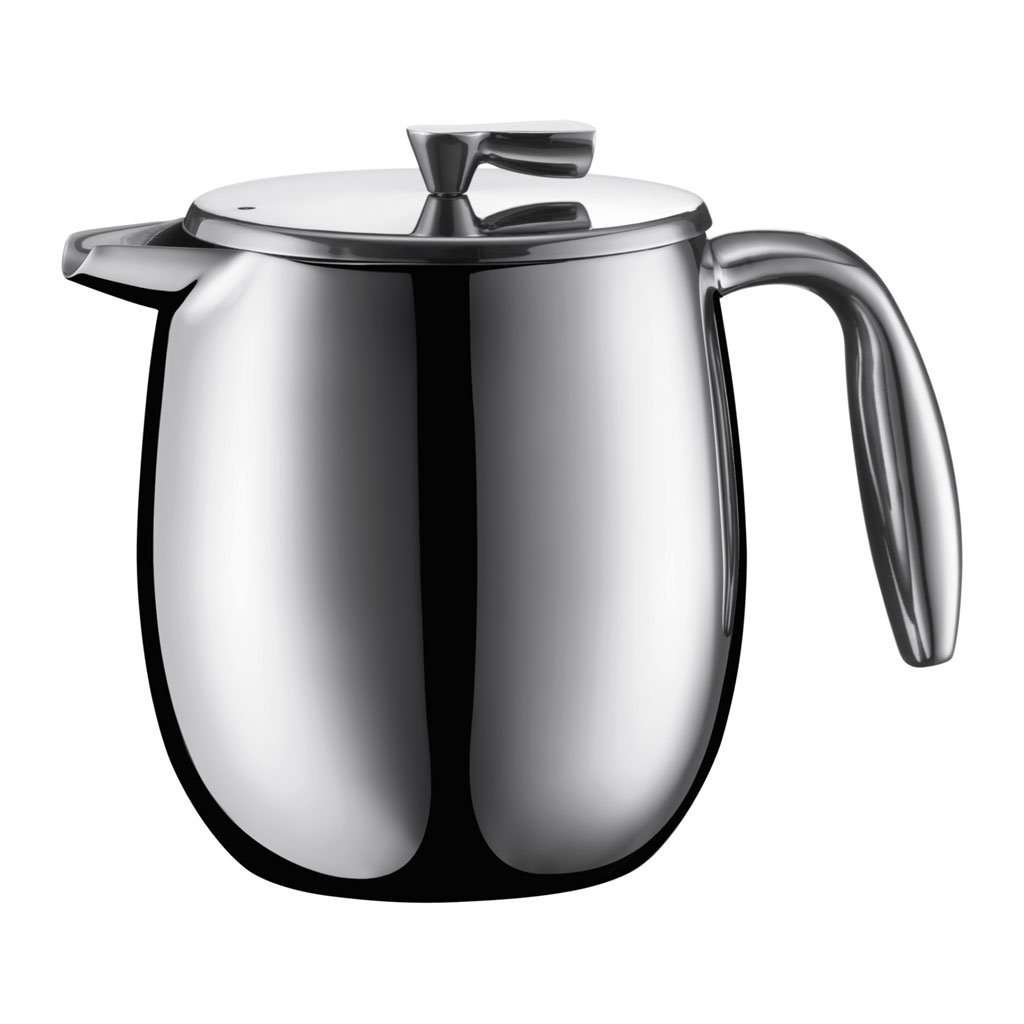 Bodum Columbia French Press Coffee Maker, Stainless Steel, Thermal, Double Wall