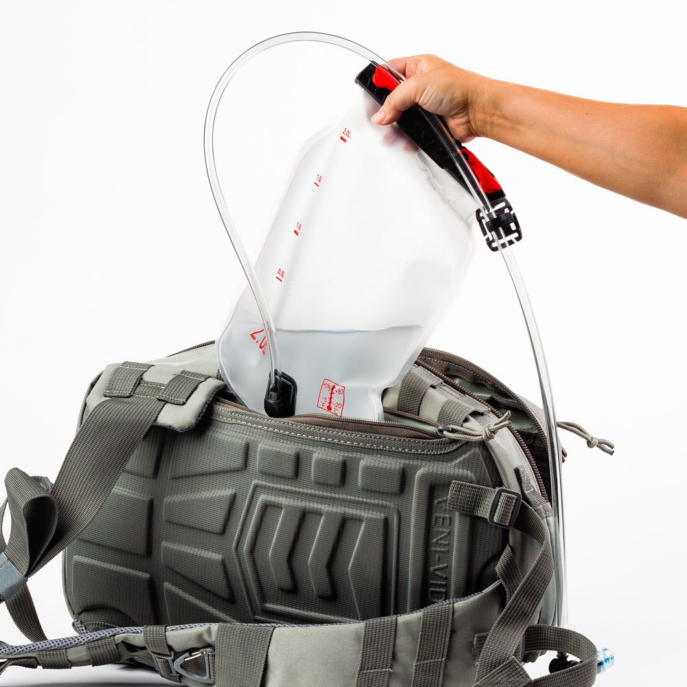 The Outlaw Sling Pack is hydration compatible