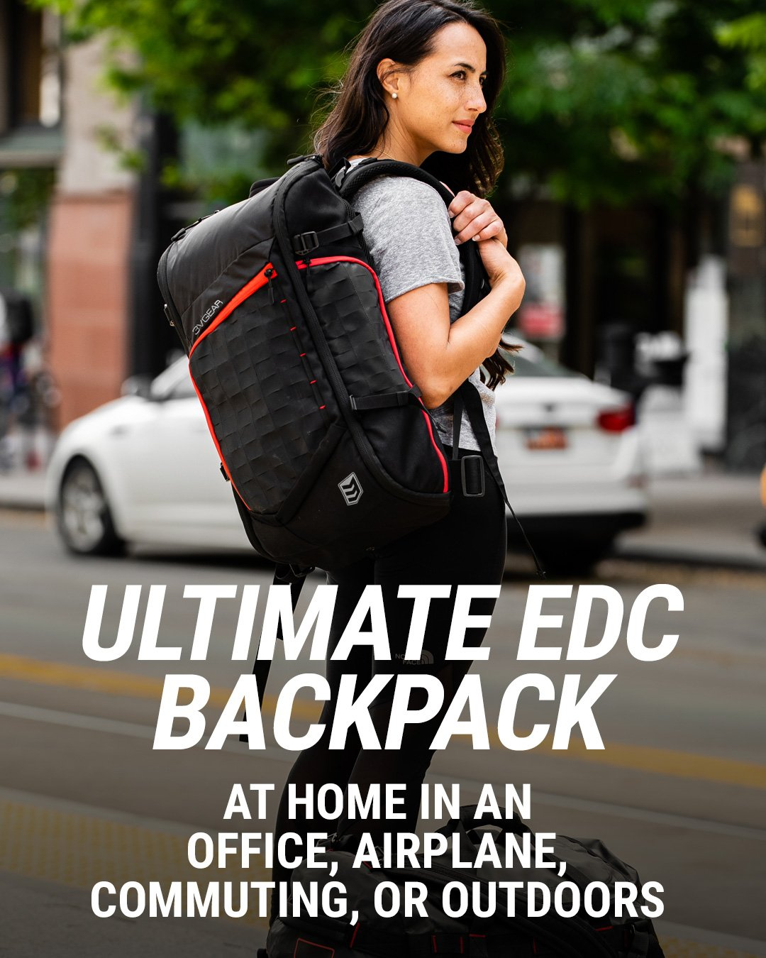 3v gear transit redline edc backpack