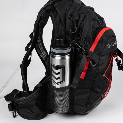 3V Gear Surge Redline Hydration Backpack Water Bottle
