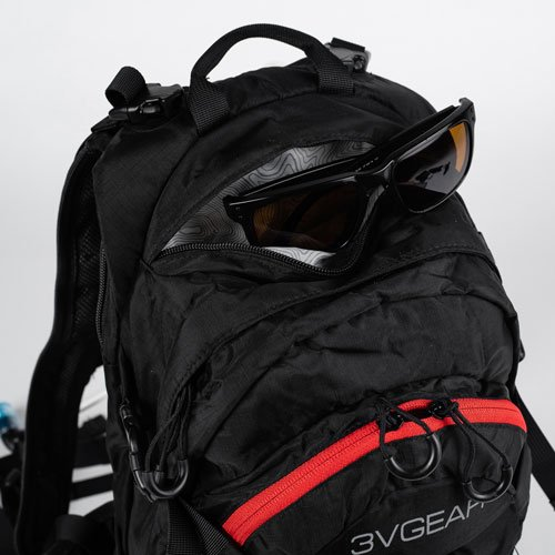 3V Gear Surge Redline Hydration Backpack Sunglass Pocket