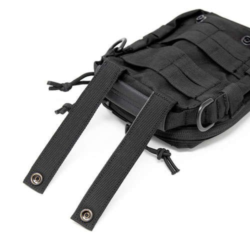 MOLLE straps allows you to add the pouch to other bags