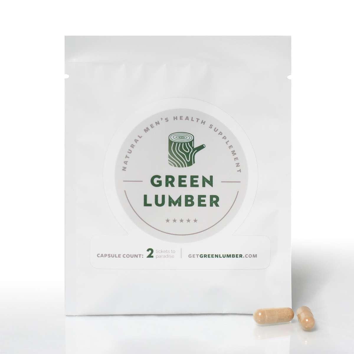 green lumber weekender front packaging