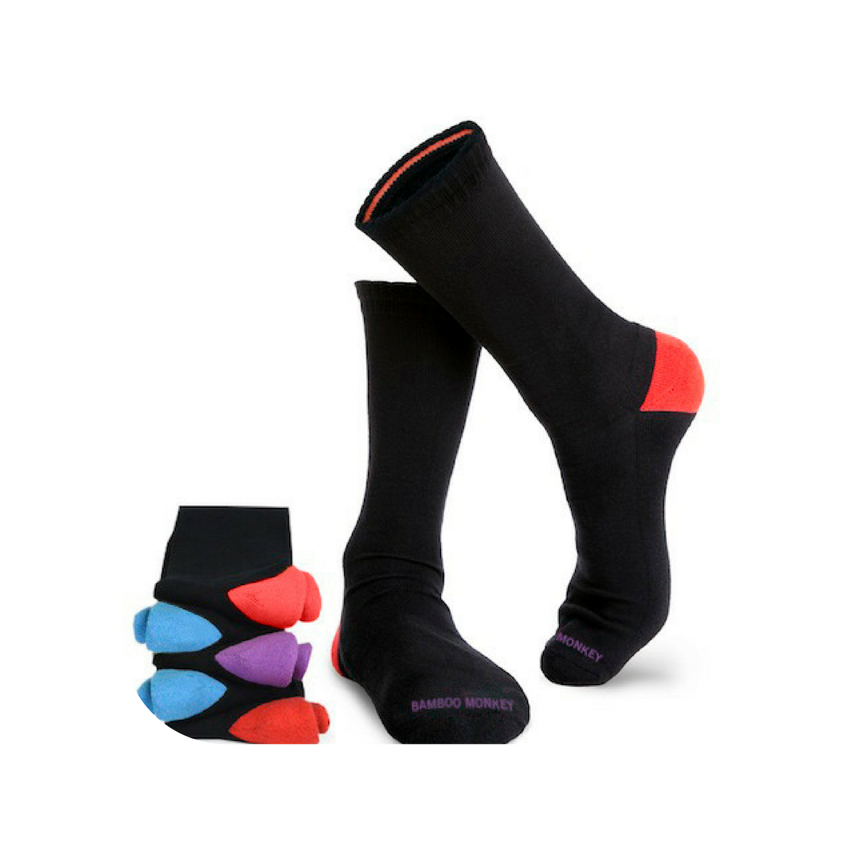 10 pairs of classic black bamboo socks