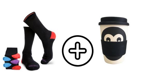 Bamboo Monkey Bamboo socks and reusable coffee cup Australia