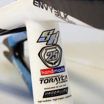Supercross Envy BLK Carbon BMX Race Frame Cyan/White