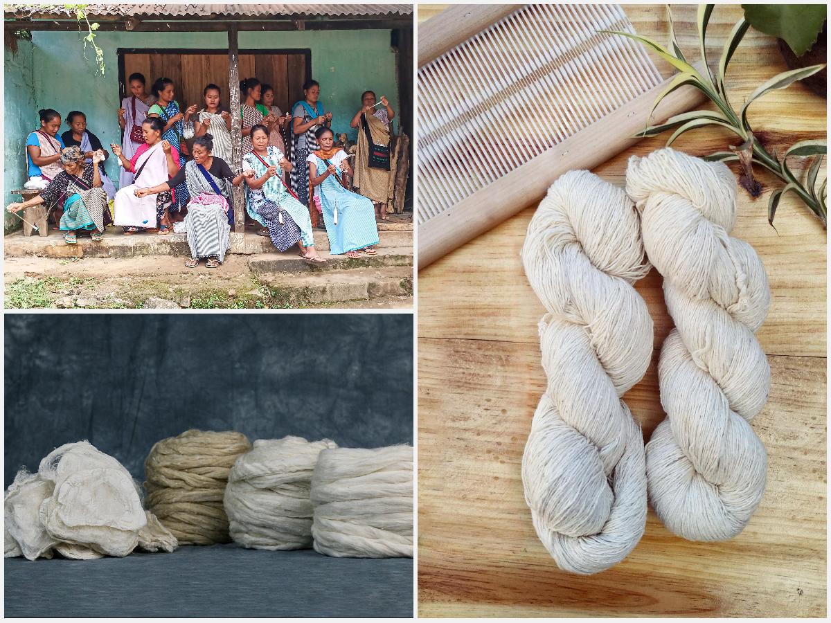 Episode 111: Sustainable Handspun Eri Silk Fibers with Muezart of Meghalaya India