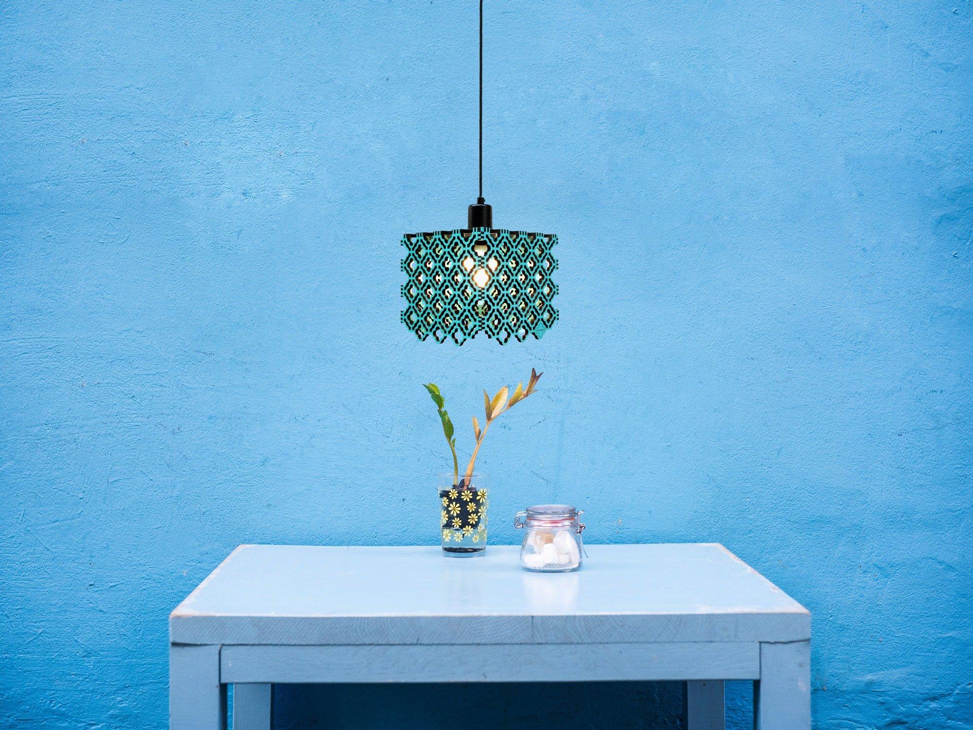 Domingo-Luminária-Pendente-Cobogó-Azul