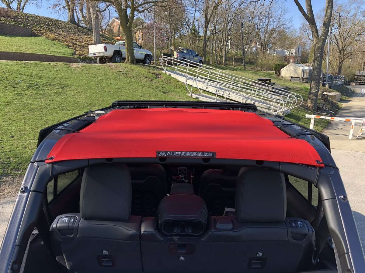 Alien Sunshade 2018 Jeep Wrangler JL Unlimited Rubicon Full Length Sun Shade Mesh Top Rear View