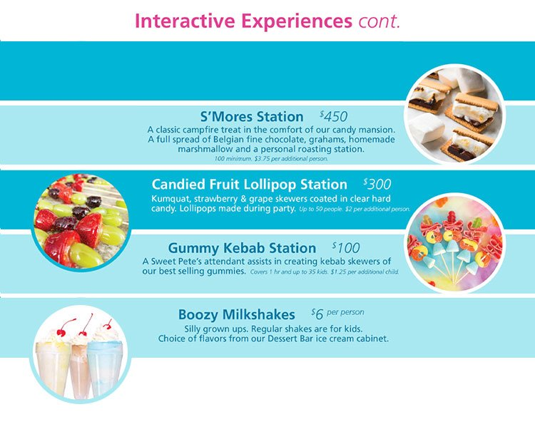 interactive experiences continued