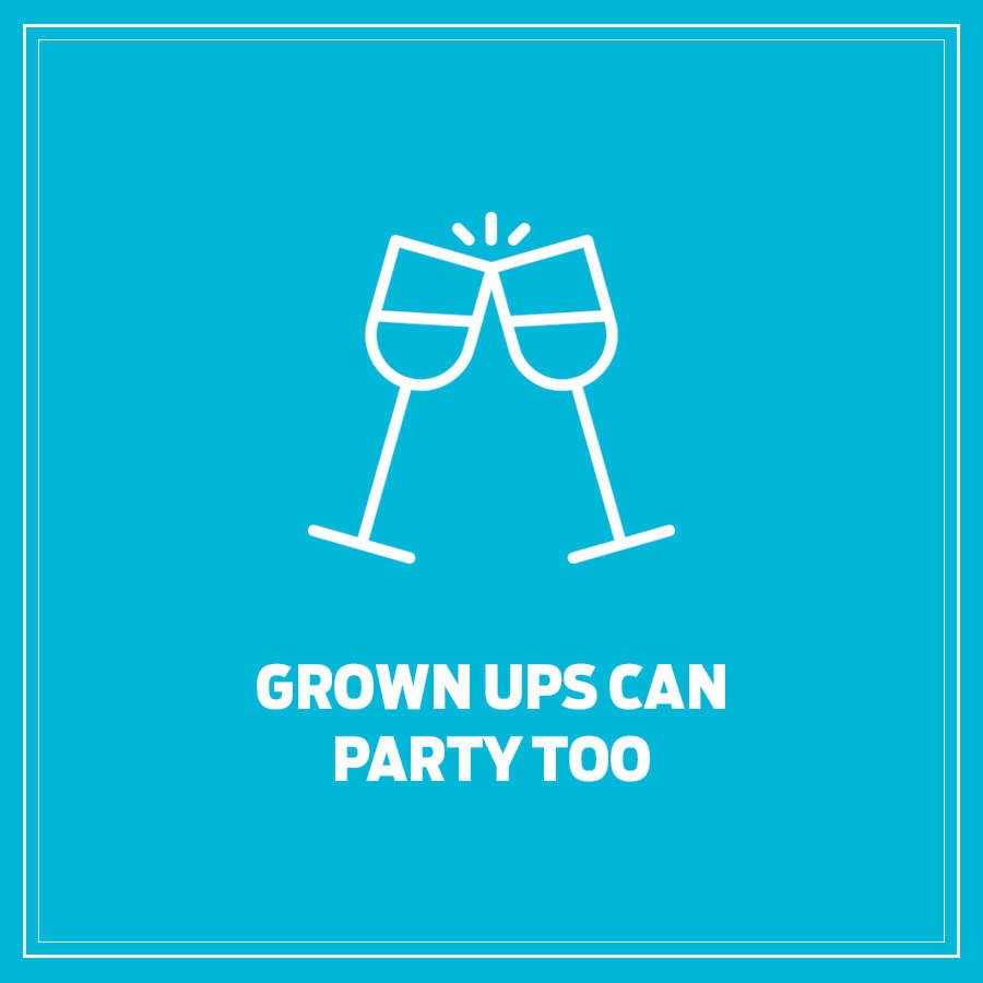 Grown ups can party too logo
