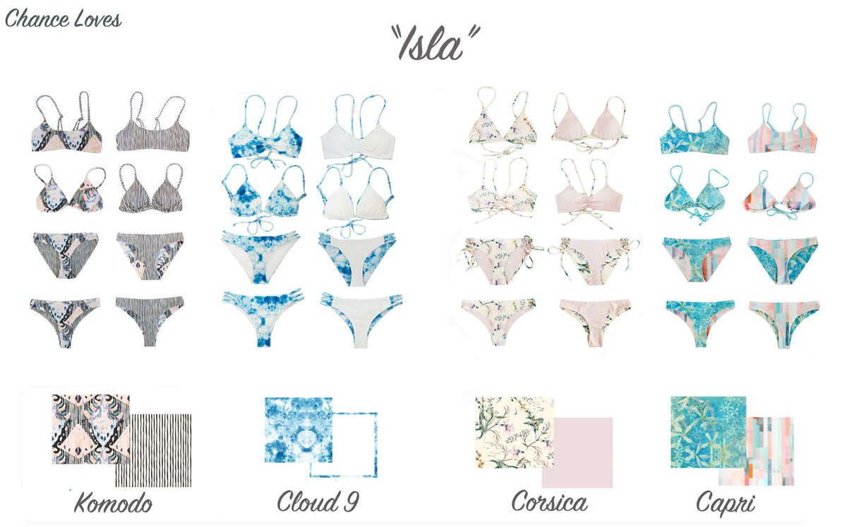 colorful pastel bikinis high quality reversible swim styles collections