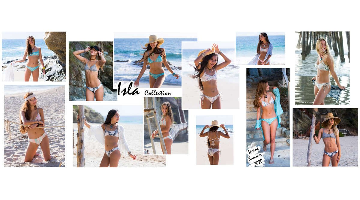 Swimwear at the beach colorful bikinis
