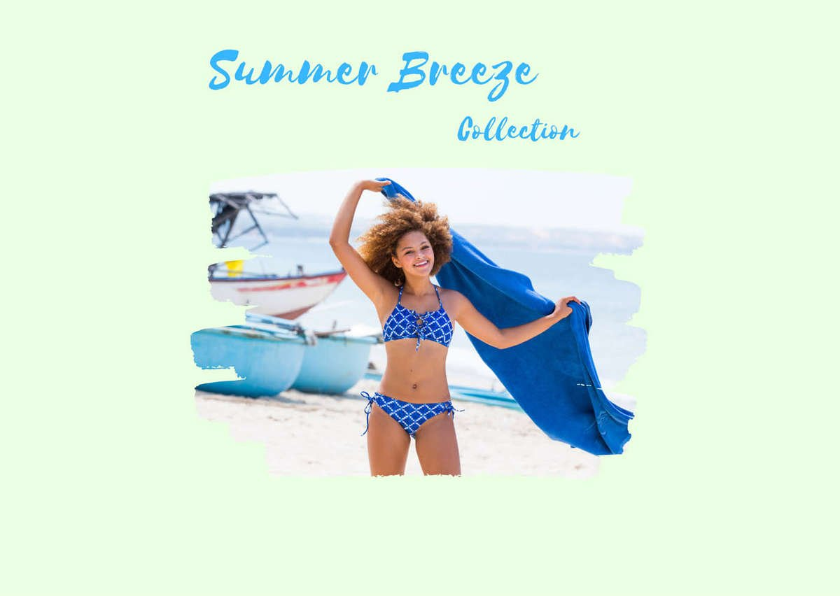 Blue green teal 2 piece swimsuits designs by Chance-Loves