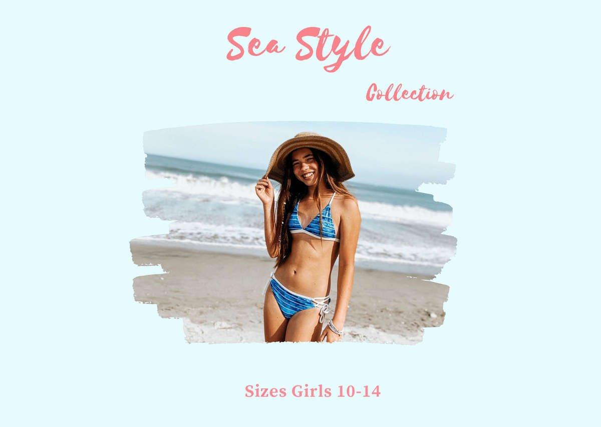 Teen Girls swimwear brand chanceloves reversible sustainable swimsuits