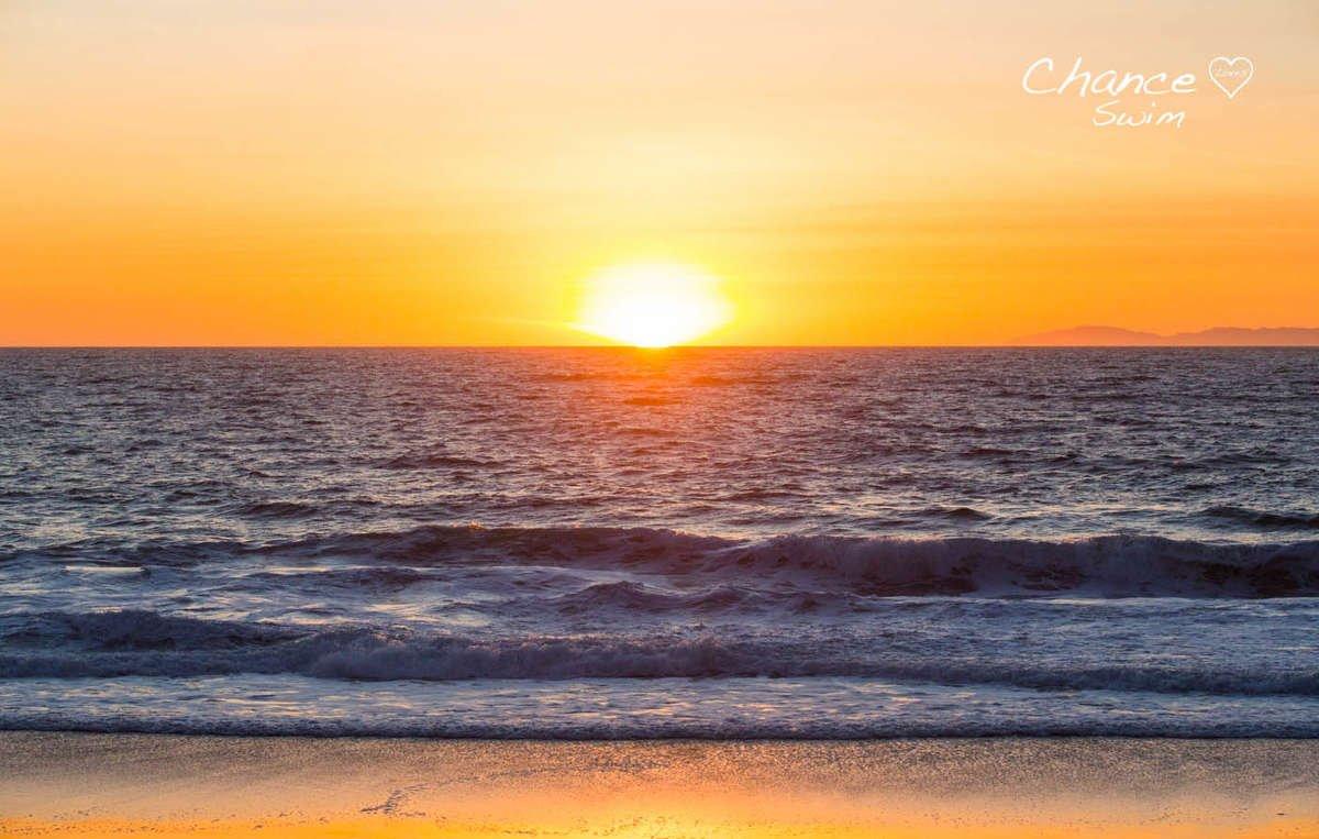 california golden orange sunset chance loves swimwear
