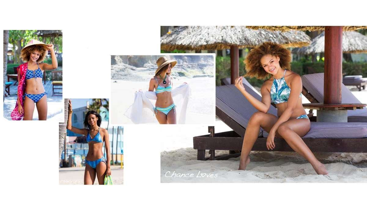 Beautiful Colorful 2 Piece Swimsuit Sets for Middle School and High School girls