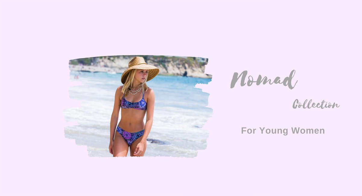 reversible purple pink bikini collection for summer styles and ocean breezes