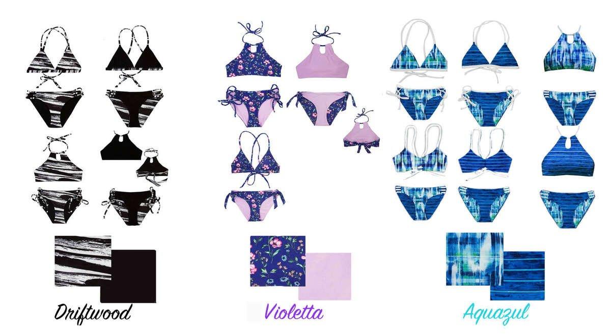 Teen swimwear brand Chanceloves two-piece swimsuits for girls