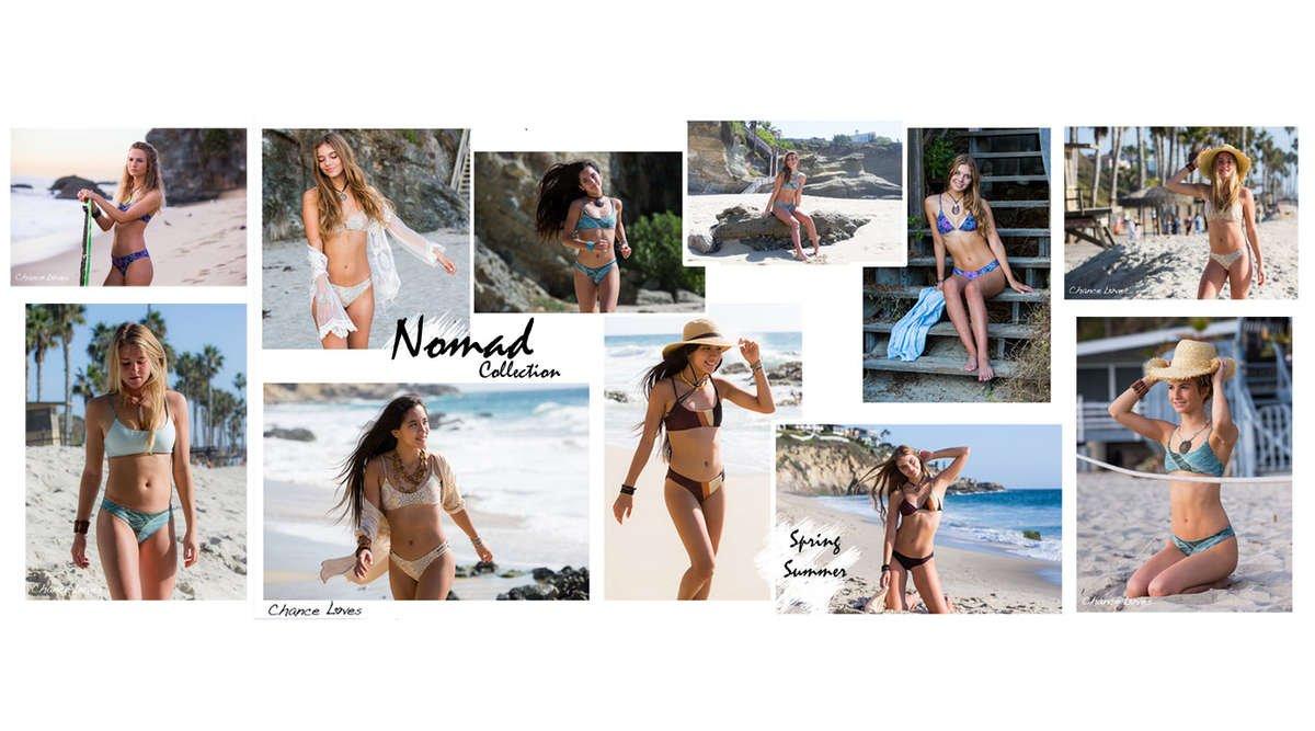 Teen women's swimwear beachgirl styles designed in california