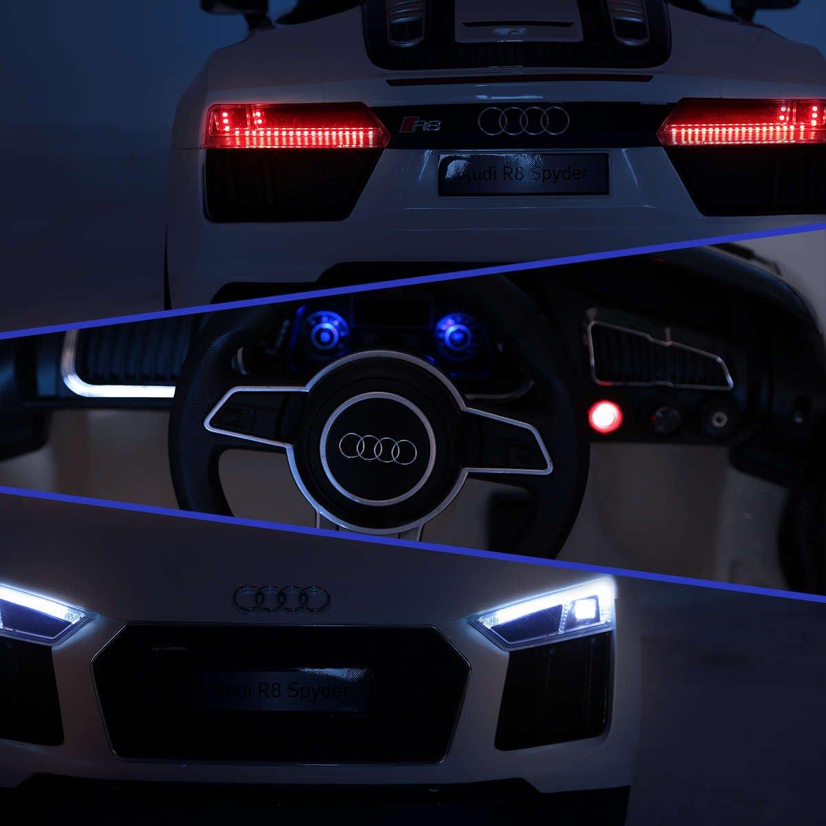 Audi R8 Spyder Licensed 12v Battery Electric Kids Ride On