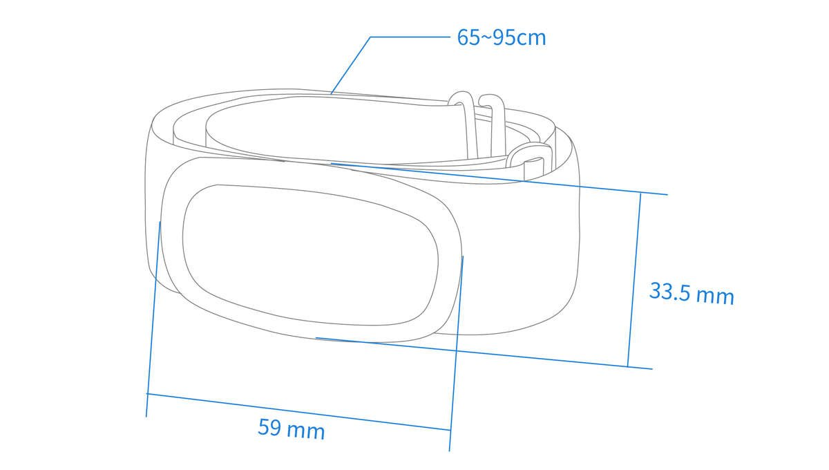 chest strap tech specs actofit