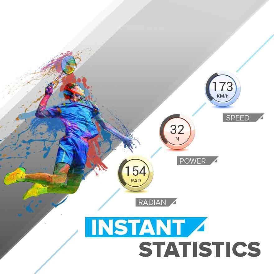 Actofit Badminton tracker instant statistics