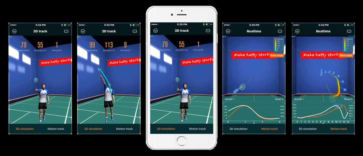 Actofit Badminton 3D motion tracking