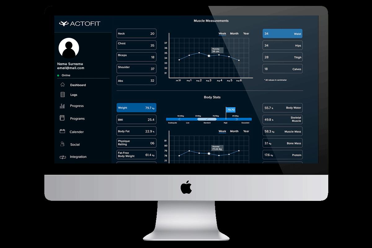 actofit smartscale dashboard