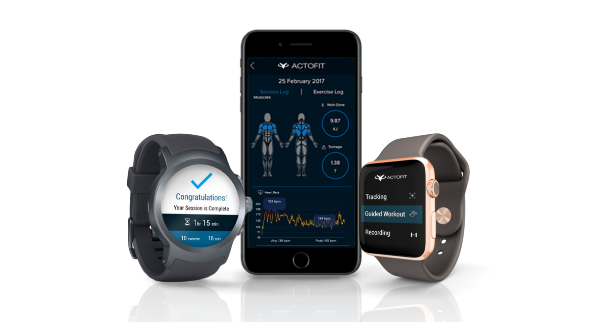 Actofit Engine App Android wear Apple Watch
